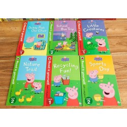 Peppa Pig Read It Yourself Level 1-2  Collection (6 Books)  - Paperback