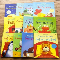 Usborne Phonics Readers Collection (12 Books) [3+ years] - Paperback -- Free Shipping