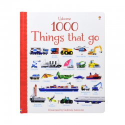 Usborne 1000 Things that go [Age 4+] - Boardbook