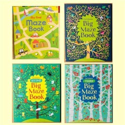 [Warehouse Sale] Usborne - My First Maze Book + Big Maze Book CollectionI (4 Books)  [Age 4+ ] - Paperback