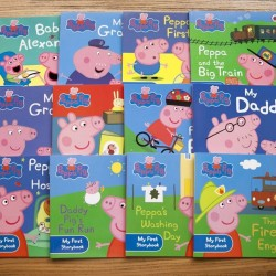 [Warehouse Sale] Peppa Pig Purple Bag Collection (12 Books) - Paperback