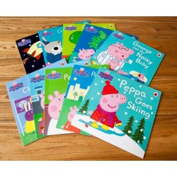 [Warehouse Sale] Peppa Pig Green Bag Collection (10 Books) - Paperback