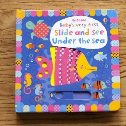[Warehouse Sale] Usborne - Baby's very first Slide and see Under the sea [Age Birth] - Board Book