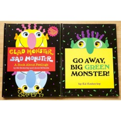 【PRE-ORDER】Go Away, Big Green Monster! + Glad Monster, Sad Monster (3years +) - Hardcover