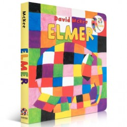 ELMER【Age 4+】- Board Book