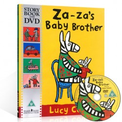 Za-za's baby Brother【Age 3+】- Paperback with DVD