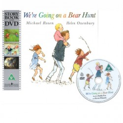 We're Going on a Bear Hunt【Age 3+】- Paperback with DVD