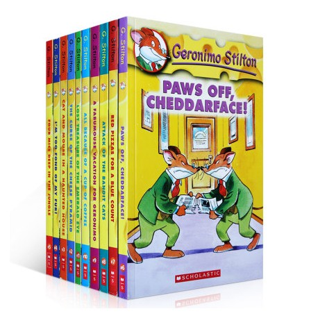 Geronimo Stilton No.1-10 (10 Books)【Age 7+】- Paperback
