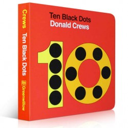 Ten Black Dots【Age 3+】- Board Book