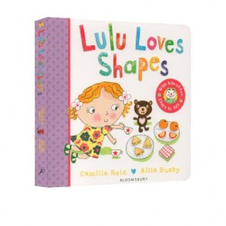 Lulu Loves Shapes : flaps to lift【Age 3+】- Board Book