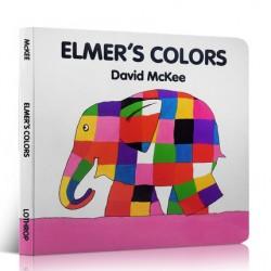 Elmer's Colors【Age 3+】- Board Book