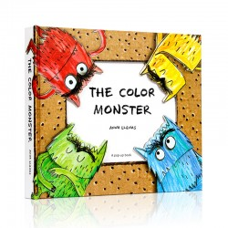 The Color Monster : A Pop-up Book of Feelings【Age 5+】 - Hardcover