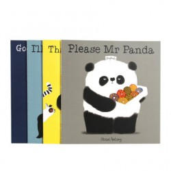 Mr Panda Collection (4 Books) : Please I'll Wait Goodnight Thank You【Age 4+  Etiquette】- Paperback