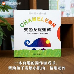 CHAMELEON 变色龙捉迷藏【信谊宝宝起步走 Bookstart 0-3岁 认知学习】- 纸板书