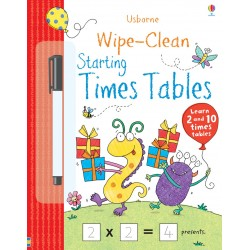 Usborne Wipe-Clean - Dot to Dot + Starting Times Tables -- Free Shipping