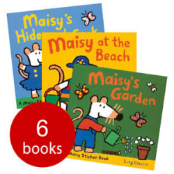 Maisy's Sticker Books Collection + Sweet Dreams, Maisy  (7 Books) - Free Shipping