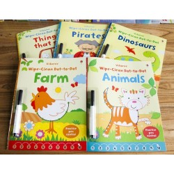 Usborne - Wipe Clean Dot-to-dot Collection (5 Books Set) – Free Shipping
